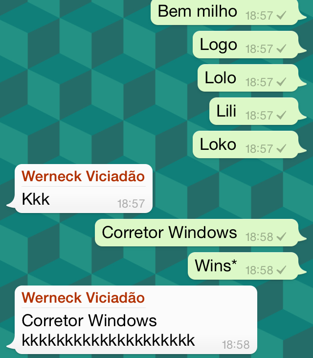 Corretor Wins - meme