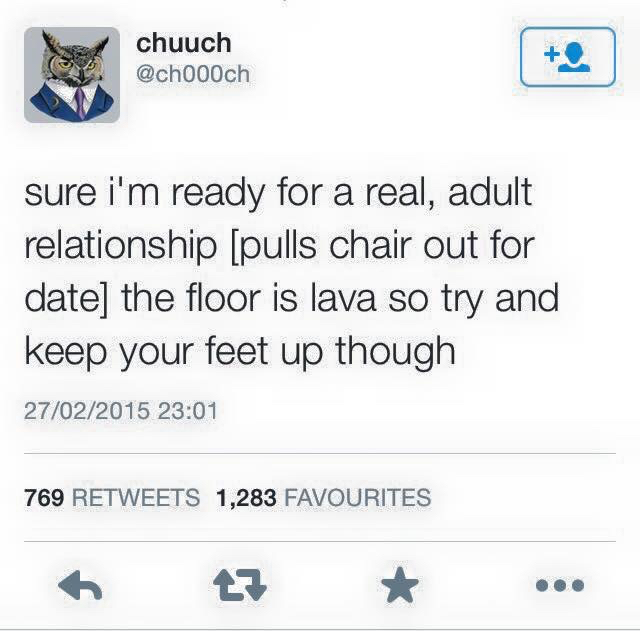 Floor is lava - meme
