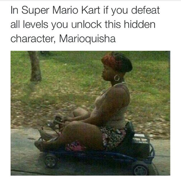 Mario kart EASTER EGGS 101 - meme