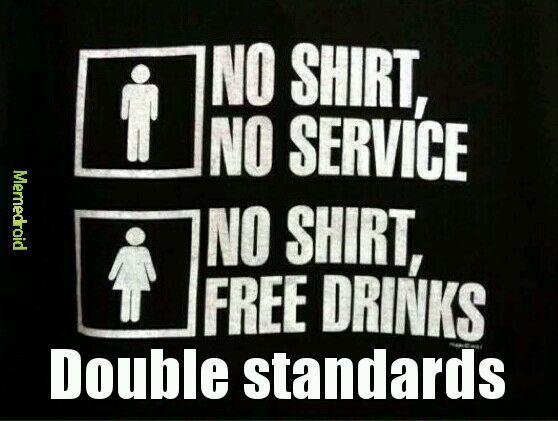 I'd never where a shirt... - meme