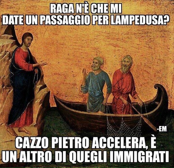 Jesus lo scroccone - meme