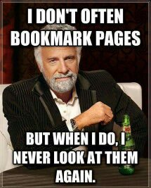 i love bookmarks - meme