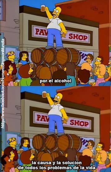 Por el alcohol - meme