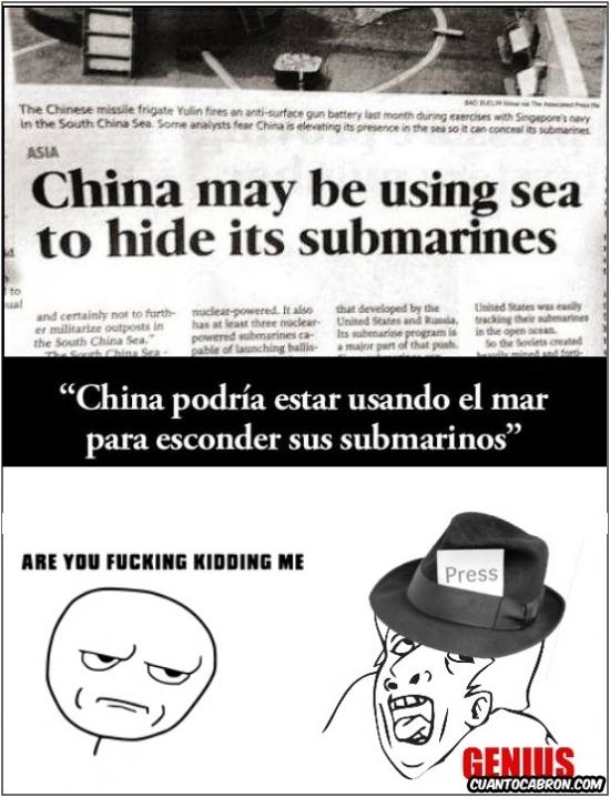 Donde esconderias tu un submarino? - meme