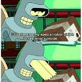 Visão de robô especial do Bender.