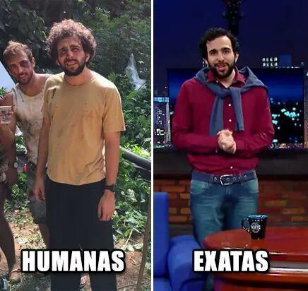 Humanas vs exatas - meme