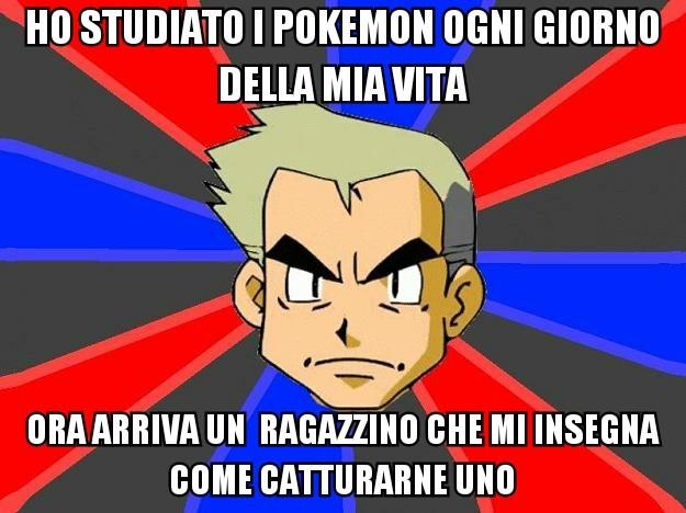 il mondo dei pokemon - meme