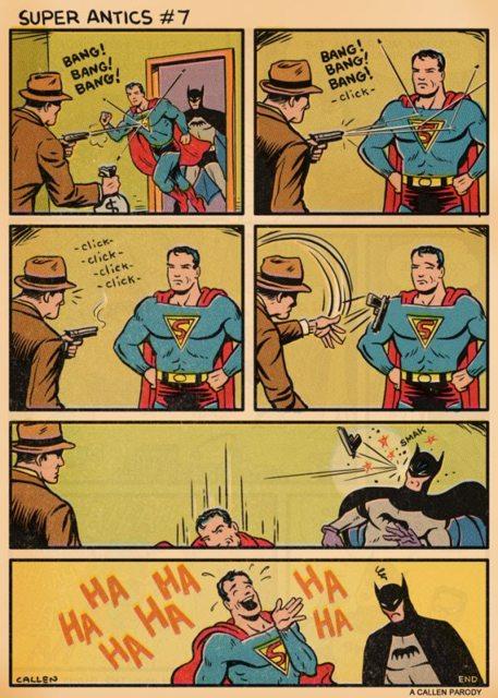 Super homem é um cuzão - meme