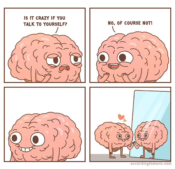 Narcissistic brain! - meme