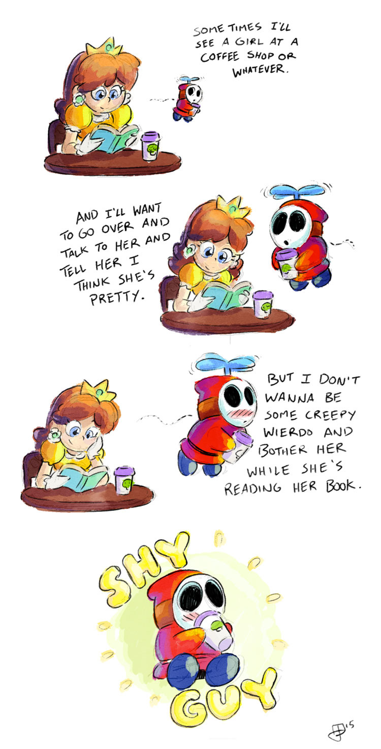 the shy guy - meme