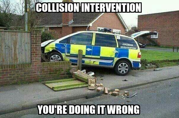 Collision Intervention - meme