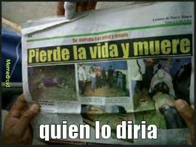 impactante noticia - meme