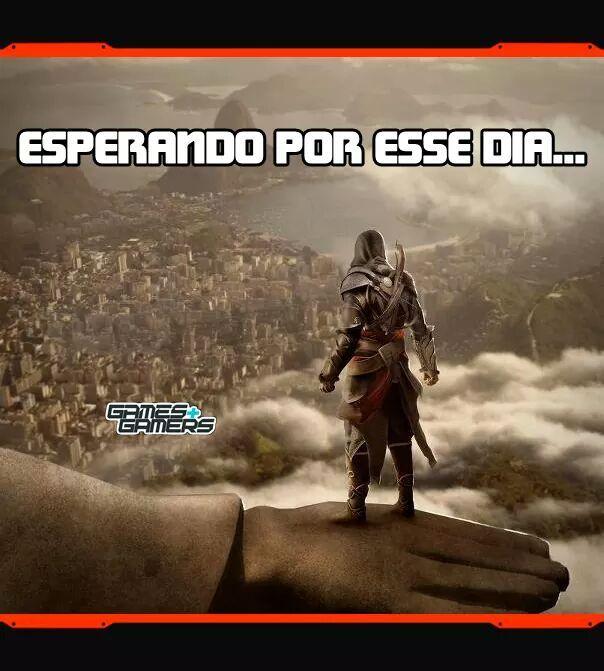 Ezio subindo os morro de AK - meme