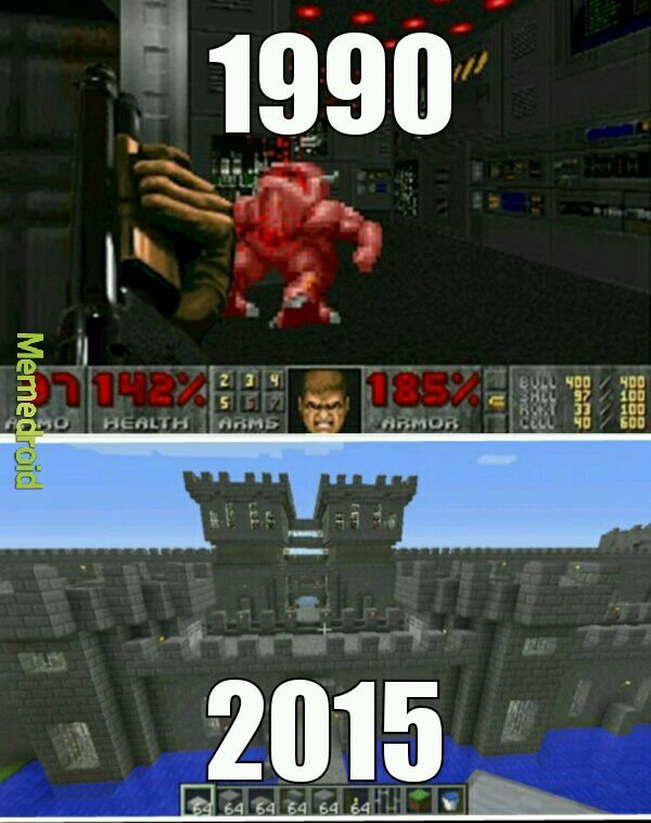 Evolução Grafica 1990-2015 - meme