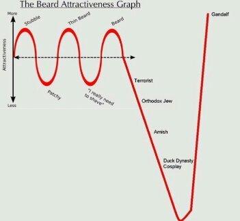 Beard attractiveness - meme