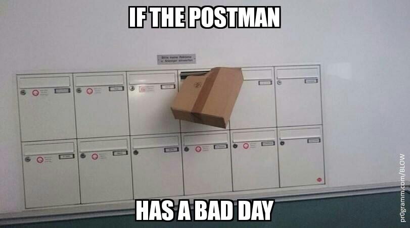 Bad day mailman - meme