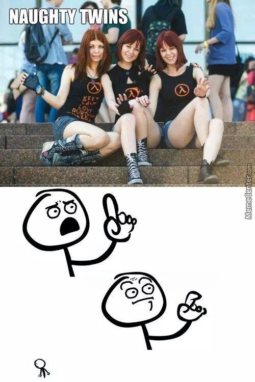 naughty twins - meme
