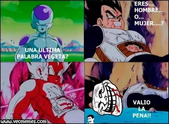 Jajaja por eso amo a Vegeta - meme