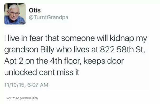 Someone murder Billy please - meme