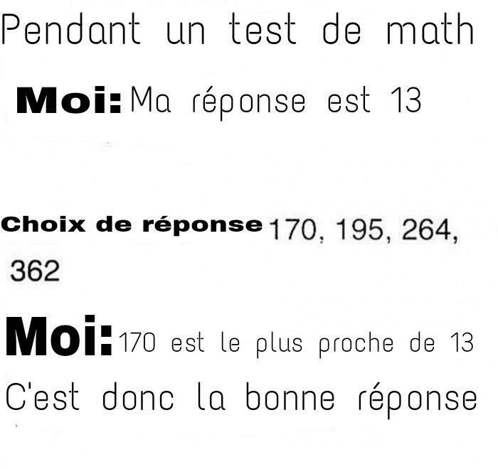 Mes copains les maths - meme