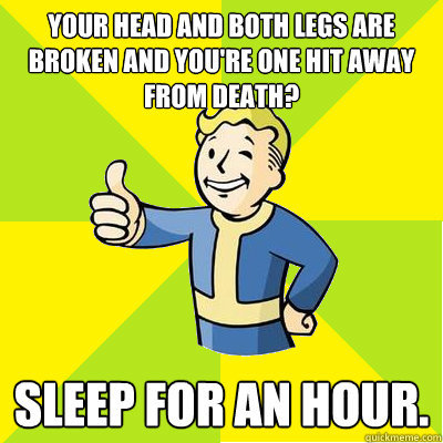 Can sleep on a bed with bloodied body parts, can't sleep on sofa - meme