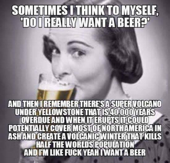 Sounds like a damn good reason to have a beer to me!! - meme