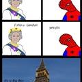 Spoderman visite Londres