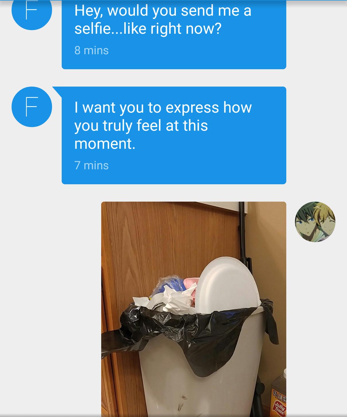 I feel like trash - meme