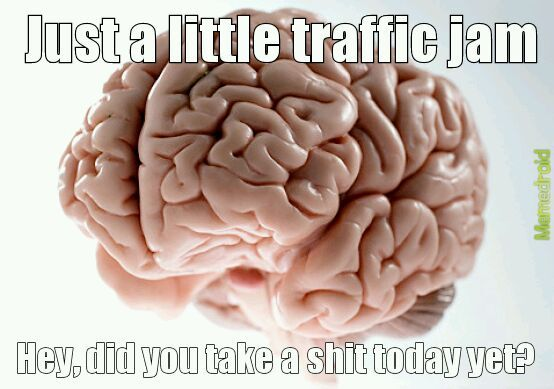 Traffic jam late on your way to the office and all of a sudden... - meme