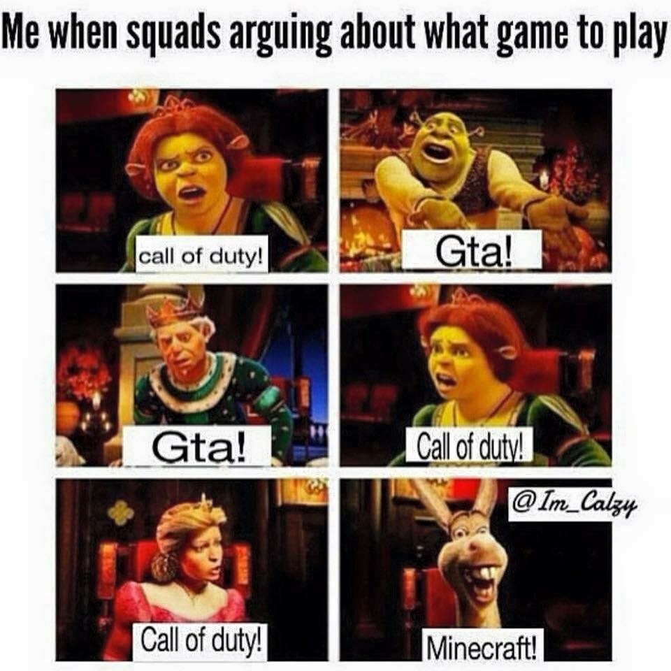 Gaming with the squad - meme