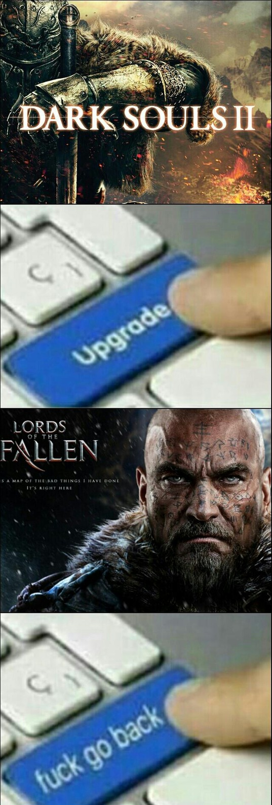 Lords Of The Fallen us just shitty Dark Souls - meme