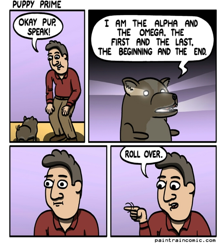 Creepy pup - meme