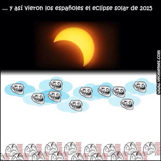 Y asi fue el eclipse q nadie vio xd - meme