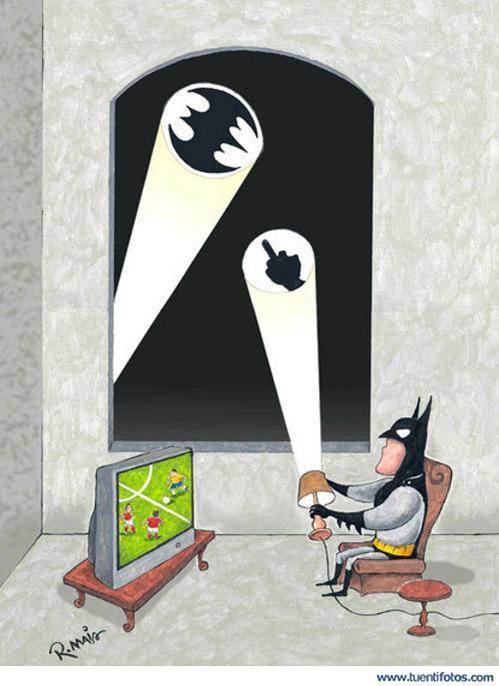 Batman tambien quiere sus momentos libres - meme