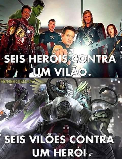Homem aranha melhor herói <3 - meme