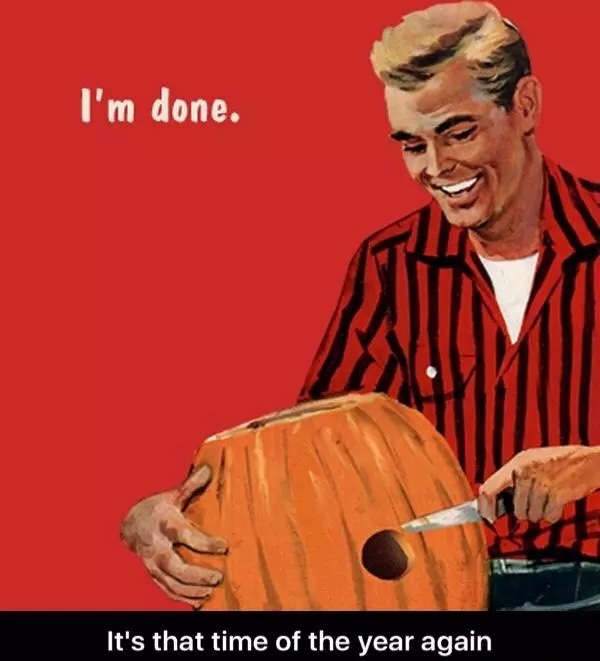 *closes eyes and bites lips and whispers shhhhh to the pumpkin - meme