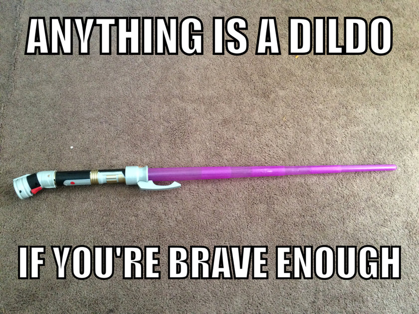 I like my lightsaber - meme