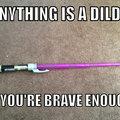 I like my lightsaber