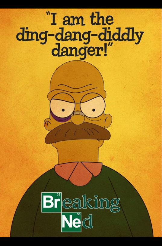 Breaking Bad + Les Simpson = Breaking Ned - meme