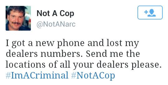 Not a cop - meme
