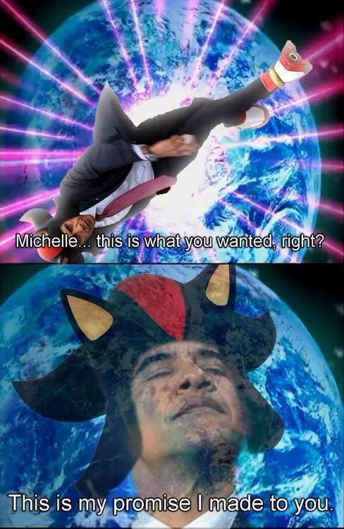 Shadobama the Hedgehog - meme