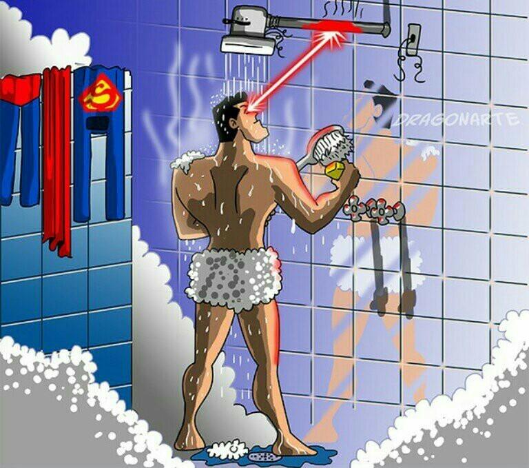 Problema resolvido com a água fria! - meme