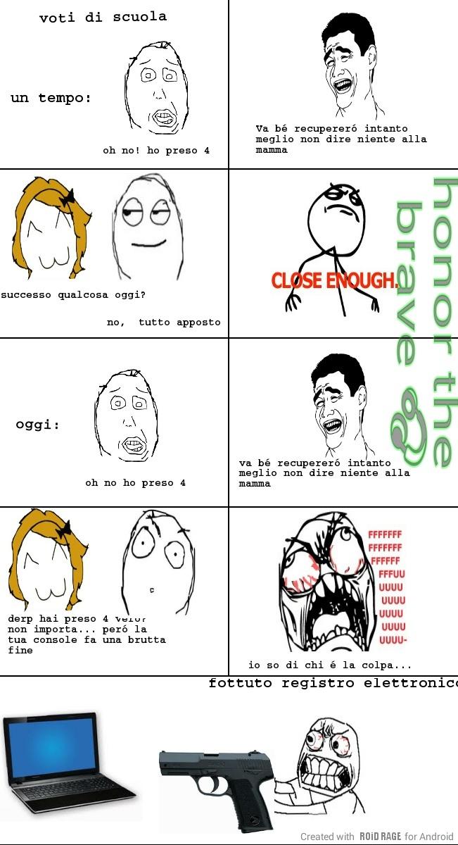 Chi odia il registro elettronico alzi la mano - meme