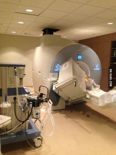Someone forgot MRI'S are fucking giant magnets - meme