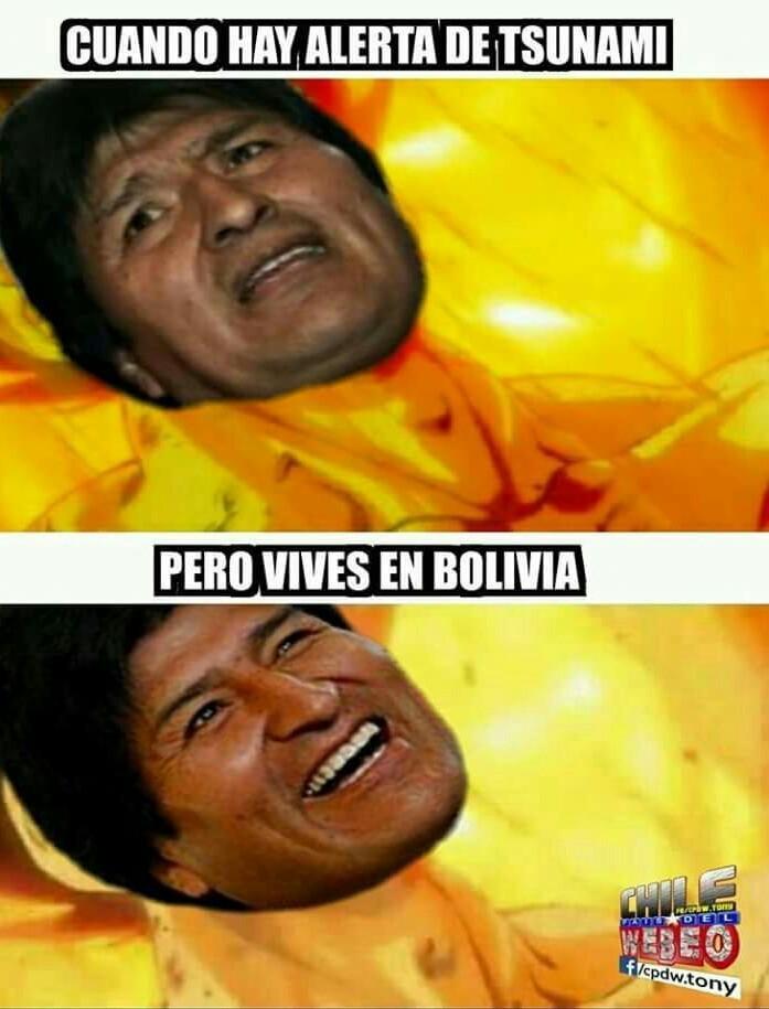 Evo Morales es la leche - meme