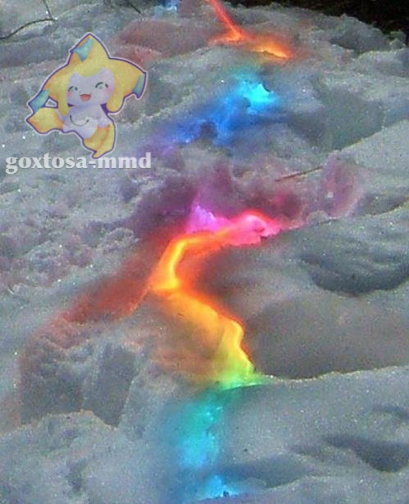isso e uma luz dentro do gelo, que lindo - meme