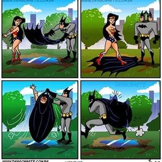 """Batman pourquoi kidnapper Wonderwoman ? """"For the Justice Lol"""" - meme"""