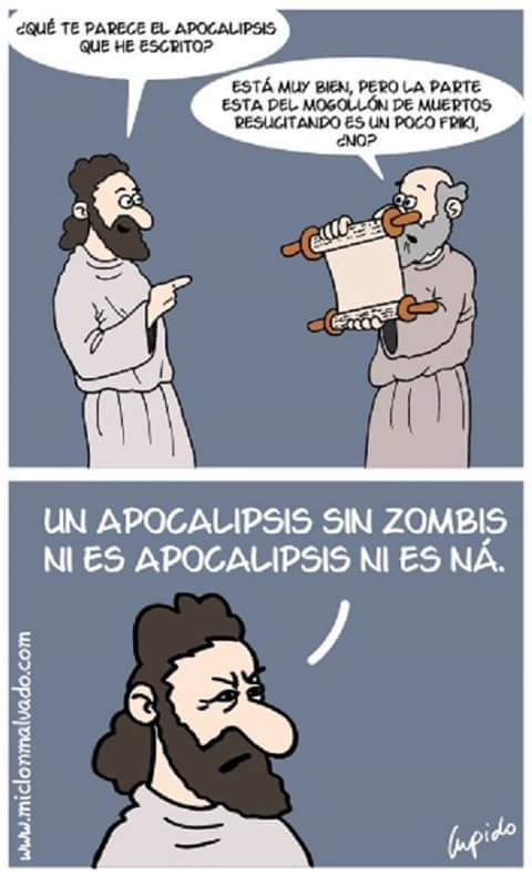 Sin zombies no va - meme