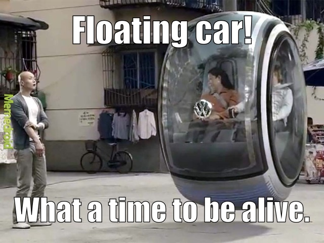volks wagon is making a levitating car! - meme