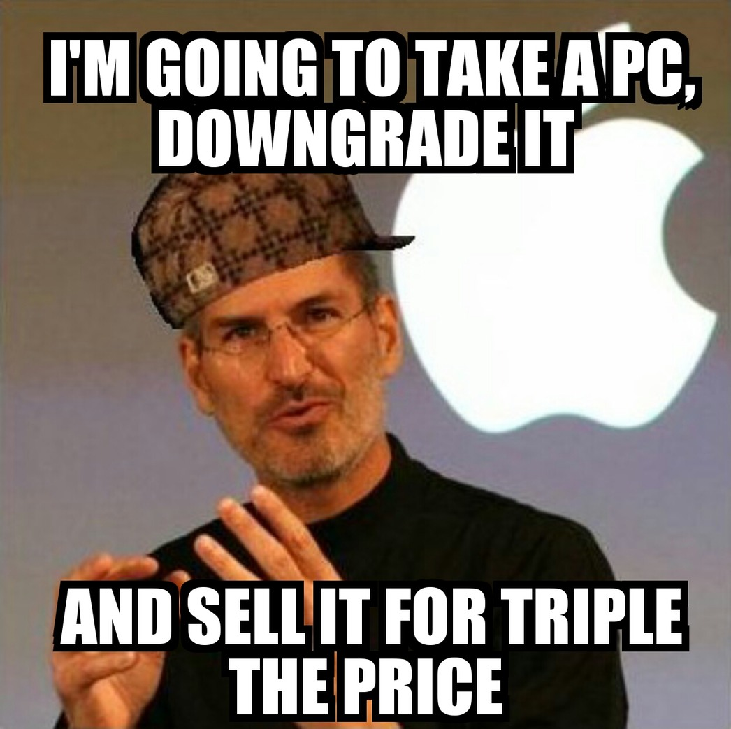 Apple kinda sucks... A lot. - meme